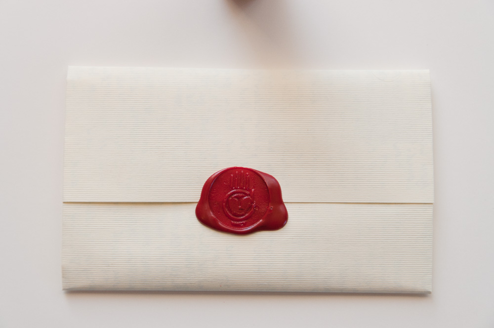 Letter sealed with a wax seal